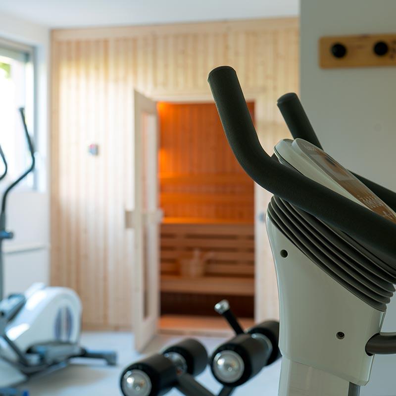 Salle de fitness d'un hotel de charme en Corse du sud