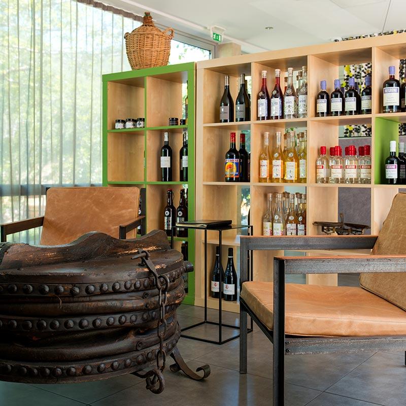 espace détente dans un boutique hôtel Corse