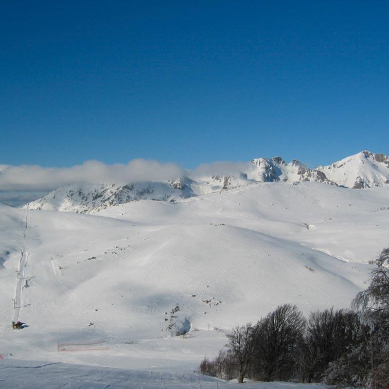 Station de Ski du Val d'Ese dans les montagnes Corses